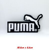 Puma Sports logo white badge Iron Sew on Embroidered Patch