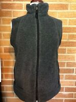 Columbia polyester Fleece-type Vest Charcoal Gray Women's Medium