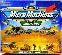 """""""#18 WORLD WAR I COLLECTION"""" MILITARY 1999 GALOOB MICRO MACHINES NOC VERY CLEAN!"""