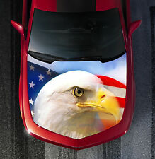 H42 EAGLE AMERICAN FLAG Hood Wrap Wraps Decal Sticker Tint Vinyl Image Graphic