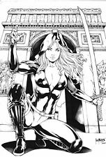 RED AGENT SEXY INK PINUP ART - ORIGINAL COMIC PAGE BY LEO MATOS