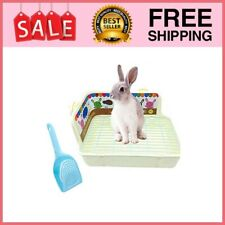 New listing Rabbit Litter Box Rat Toilet Litter Pan Potty Trainer Scoop for Small Animals