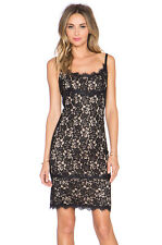 BNWT DVF DIANE von FURSTENBERG Olivia Sleeveless Lace Sheath Dress Black 2 428