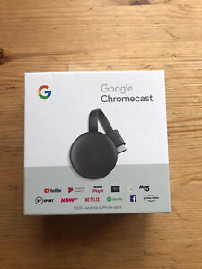 New Google Chromecast  (3rd Generation) Media Streamer - Black FREE DELIVERY