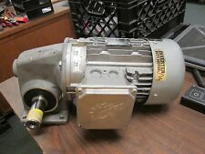 Nord AC Motor w/ Gear 90S/4 CUS 1.5HP 1660 RPM 230/460V 4.84/2.42A Used