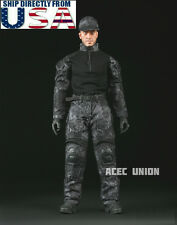 "1/6 Men Camouflage Soldier Combat Set For 12"" Phicen Hot Toys Male Figure U.S.A."