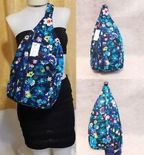 Vera Bradley Moonlight Garden Iconic Sling Backpack Crossbody Bag Messenger Nwt
