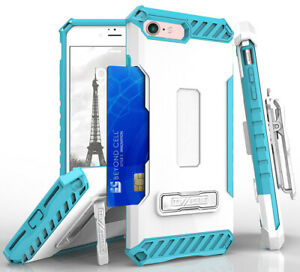 TRI-SHIELD CASE + BELT CLIP HOLSTER STRAP CARD SLOT STAND FOR APPLE iPHONE 7/8