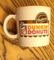 Coffee Mug Dunkin Donuts Bakery Series LEFT HAND White Logo Tea Cup for Lefties