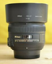 Nikon Nikkor AF-S 50mm F1.4G Prime Lens w/Original box, Lens caps and hood!
