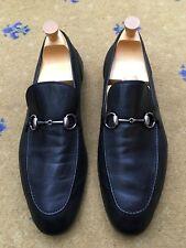 Gucci Mens Shoes Black Leather Horsebit Loafers UK 11 US 12 EU 45
