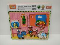 Viga - Wooden Puzzle Extra-Thick - Pets - Age 18 Months+ - Brand New - 56440