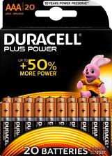 20 X Batterien Duracell 020146 Micro AAA Mn2400 Lr03 Alkaline plus Power 1 5v