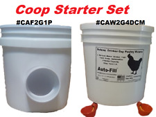 Coop 2 Pack - Automatic Chickien Gravity Feeder  &  4 Drinker Cup Waterer
