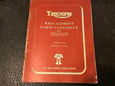 TRIUMPH TR6 TROPHY T120 BONNEVILLE ILLUSTRATED SPARE PARTS CATALOGUE MANUAL No.7