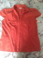 Next Ladies Short-sleeved Shirt, Orange, Hardly Worn, Size 14