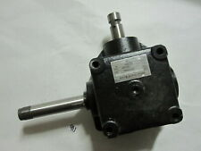 Heavy Duty 90 degree 1:1 Gear Box Two shafts, Threaded & Keyed Grooved 25mm
