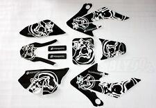 3M Skull Decal Graphics Sticker Kit CRF50 Fairing PIT PRO Trail Dirt Bike ATOMIK