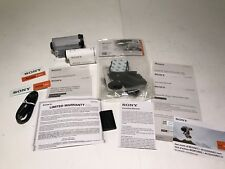Sony HDR-AS200V HD Action Cam with Wi-Fi & GPS White Case & Helmet Side Mount