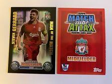Match Attax 2007/08 Steven Gerrard Man of the Match 100 club card 2008 RARE
