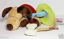Sigikid Magnet-Hund 49326 bunt Spieltier Motorik Schmusetier Stofftier Hund