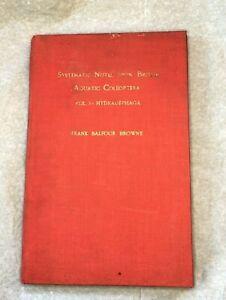 1930s Entomology Book Beetles Coleoptera Vintage Frank Balford Brown
