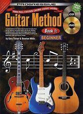 Teach Yourself Guitar Book 1 Progressive Method for Beginner DVD CD