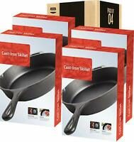 4 Pack Pre-Seasoned Cast Iron Skillet 12.5 Inches Utopia Kitchen