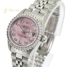 Rolex Lady  Datejust 26mm Pink MOP Diamond Dial Diamond Bezel  Approx 1.40CTW