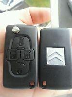 Clé Plip BOITIER coque télécommande 4 boutons pour Citroen C8 * 4 BOUTON