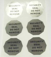 100 Tamper Proof High Security Chrome Silver Protection Labels Stickers Seals OT
