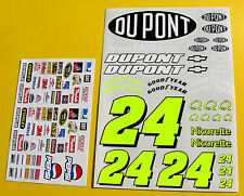 RC Nascar Jeff Gordon style #24 1/10th decals stickers