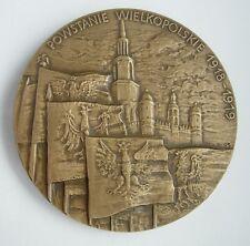 POLAND POLISH WWI 1918 GREAT POLAND Wielkopolski UPRISING MEDAL
