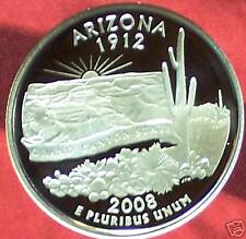 2008-S Arizona Silver Proof State Qtr. - Ultra Deep Cameo!