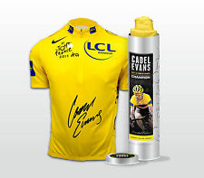 CADEL EVANS  HAND SIGNED  LIMITED EDITION 2011 YELLOW JERSEY  TOUR DE FRANCE