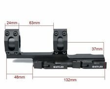 """QD Scope Extended Rings Mount Top Rail  30mm 1"""" Rings Recon Black High Profile"""