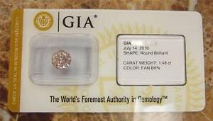 ON SALE! 1.48 CT LOOSE NATURAL FANCY PINK ROUND DIAMOND GIA SEALED (V 50-10053)