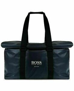 Hugo Boss Navy Weekend Gym Duffel Bag