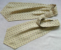 TOOTAL CRAVAT PALE YELLOW SQUARES NR MINT CONDITION VINTAGE MENS 60S 70S MOD