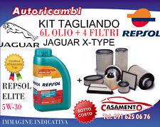 KIT TAGLIANDO JAGUAR X-TYPE 2.2 DIESEL 114KW- 4 FILTRI + 6L OLIO REPSOL 5W30