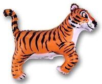 "TIGER BLACK Stripes Striped Jungle ZOO Safari 36"" Party ANIMAL Mylar BALLOON"