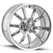 """Staggered Ridler 650 Front:18x8,Rear:18x9.5 5x127/5x5"""" +0mm Chrome Wheels Rims"""