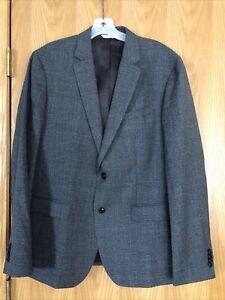 BANANA REPUBLIC Heritage Collection Marlane Wool gray plaid jacket sport coat 44