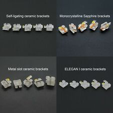 Dental Self Ligating Ceramic Bracket Orth Monocrystalline Sapphire Metal Slot