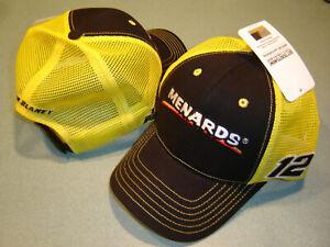 Ryan Blaney MENARDS #12 CFS Adj.SPONSOR MESH Hat NEW W/tags IN STOCK