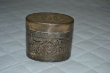 Scatola in metallo porto talco anni 70-80- metal box port talc 70-80 years