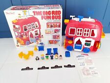 The Big Red Fun Bus With Box Figures Furniture Bluebird Vintage Car Retro