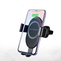 10W Qi Wireless Gravity Fast Car Charger Mount Holder For iPhone Xs Max