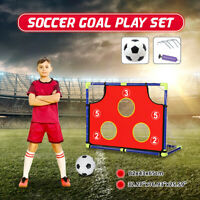 Kids Soccer Goal Target Play Set Backyard Outdoor Football Sport With Ball