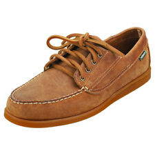 Sebago Askook Crazy Horse Mens Brown Tan Leather Boat Shoes